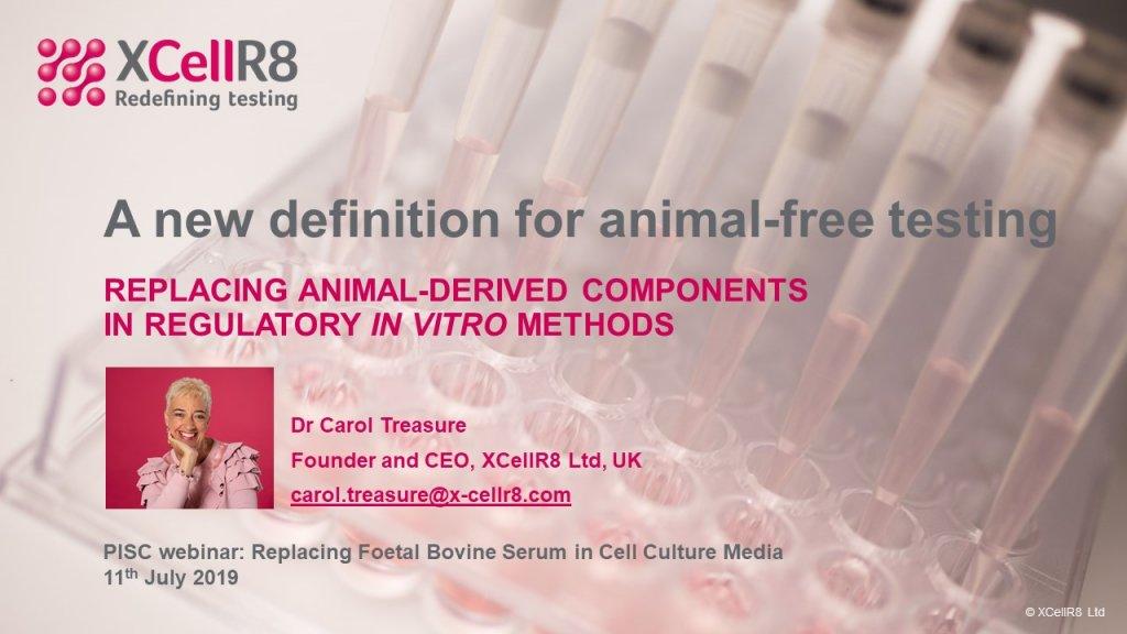 Replacing animal derived components in regulatory in vitro methods